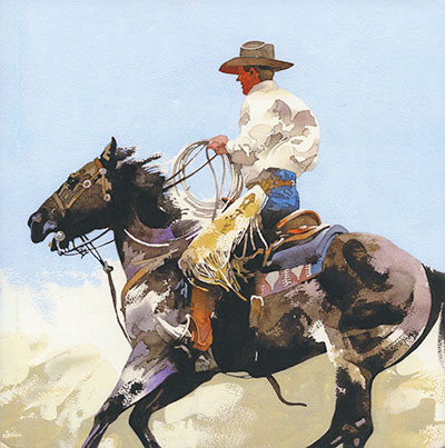 Watercolor Cowboys Book